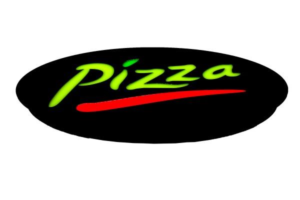 """LED Schild Leuchtschild""""Pizza"""""""
