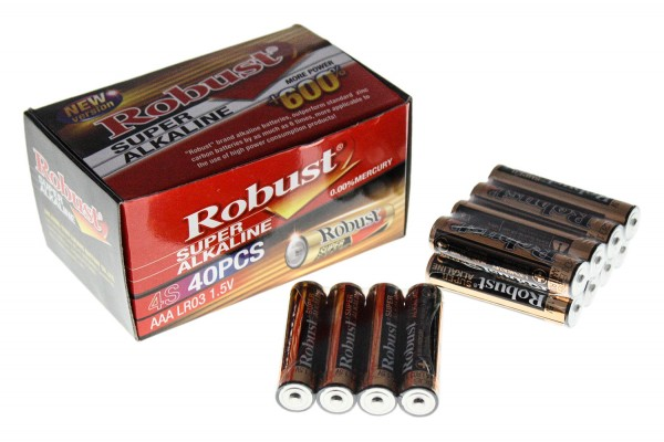 "Alkaline Batterie Robust AAA 5"" 1,5V"