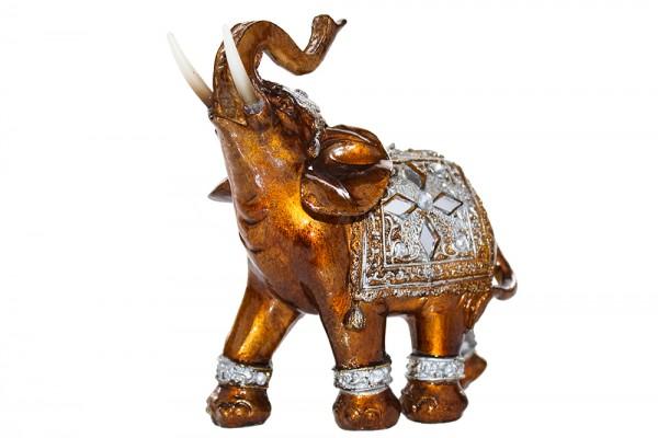 Elefant aus Polyresin h16cm b6cm