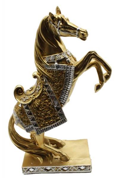 Goldene Pferde Figur H:29cm