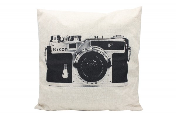 Kissenbezug, Kissenhülle, Sofa Bett Home Dekor Kissen, `kamera` Maße:44x44 cm,