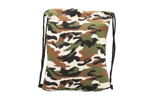 Turnbeutel, Gymsack, Gym Bag, Sportbeutel 'Camouflage' 32*42cm