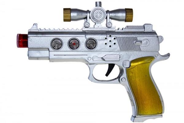 Spielzeug-Pistole mit Sound-Effekten, L22cm