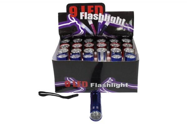 Led Taschenlampe mit 9 LEDs, h8.3cm d2cm