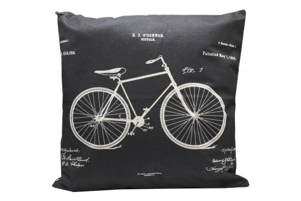 Kissenbezug, Kissenhülle, Sofa Bett Home Dekor Kissen, `Fahrrad` Maße:44x44 cm,