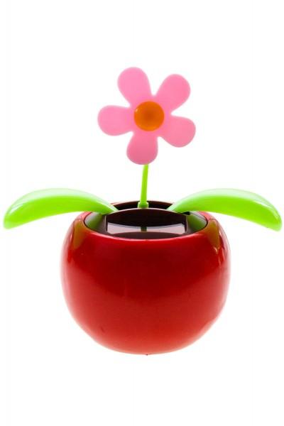 Solar Wackelfigur Blume, Tanzende Blume ca.10,5cm