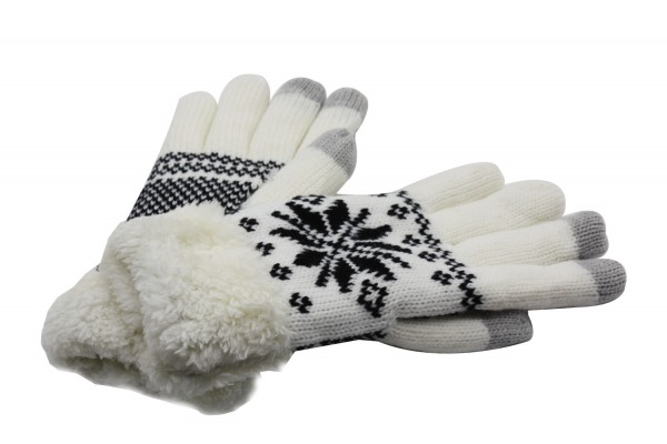 Damen Fingerhandschuh, Winterhandschuh, Touchscreen-kompatibel