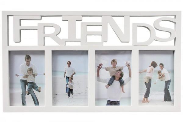 """Fotorahmen """"Friends"""" für 4 Bilder 10x15cm,Weiß"""