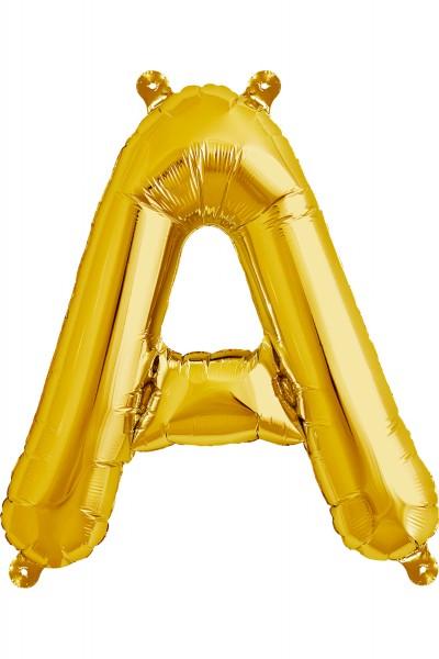 Buchstaben Folienballon A-Z, Golden Farben