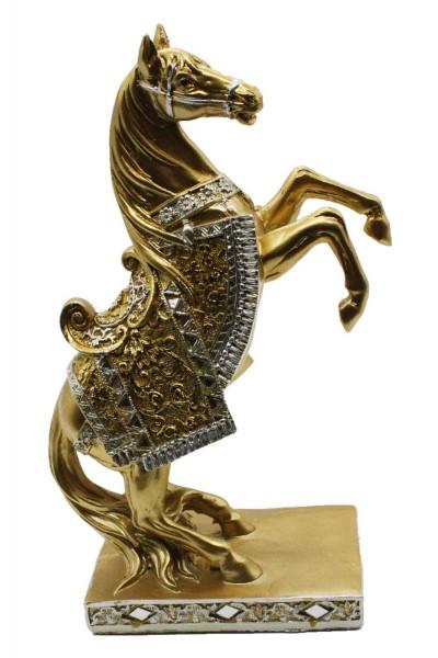Goldene Pferde Figur H:25cm