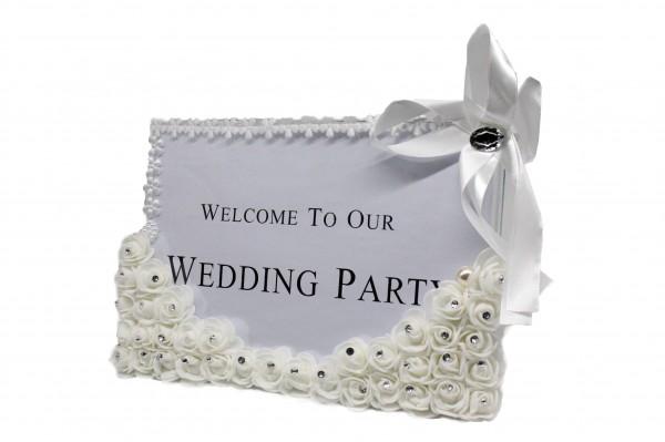 Willkommensschild für Hochzeitsgäste