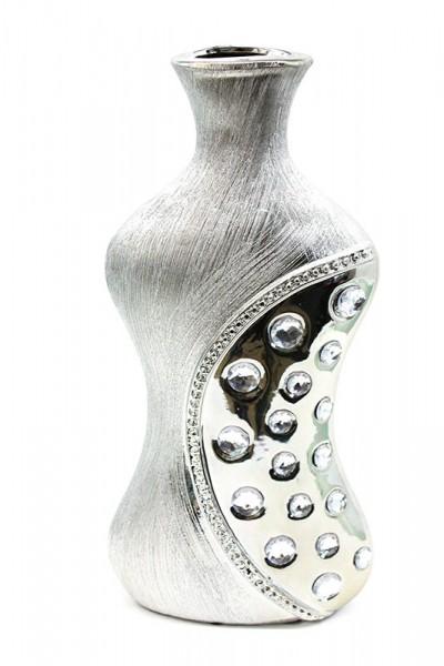 designer ceramic Vase mit Steinverziert H30xB10cm