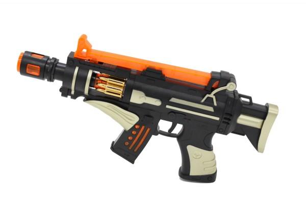 LED Selbstlader Pistole Light & Sound 31cm