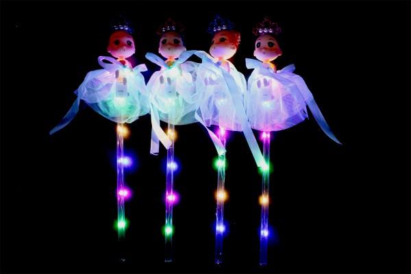 LED RGB Leuchtstab mit Schutzengel und Schalter, Partyartikel, Eventlights Leuchtwedel Multicolor.