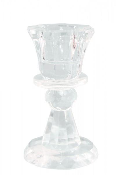 Kristall Kerzenstaender 1er h9cm b5cm