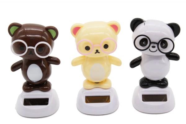 Solar wackel Figuren, Tanzende Figur Panda h11cm
