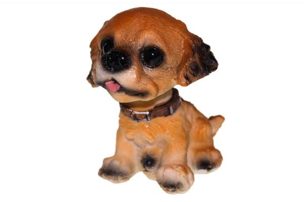 Hund mit bewegend kopf
