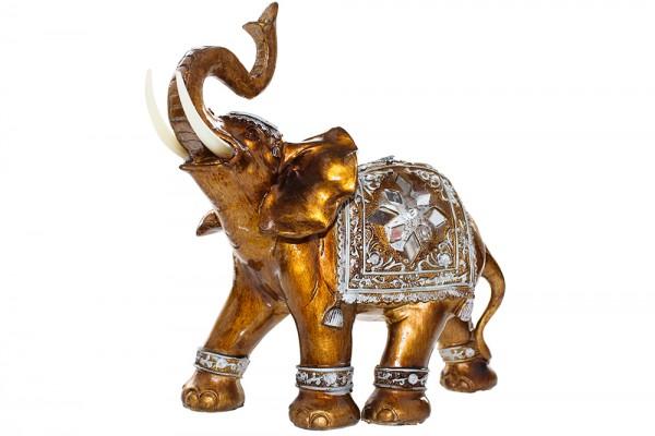Elefanten aus Polyresin mit glanz Lackierung h30cm b9cm