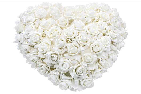 Dekor Blumen herz form 45cm