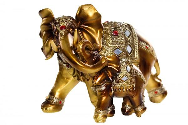 Elefanten aus Polyresin Mutter u.Sohn