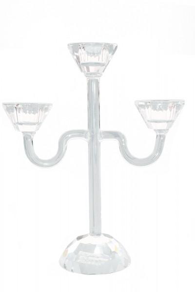 Kristall Kerzenstaender 3er h23cm b18cm