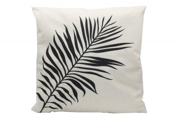 Kissenbezug, Kissenhülle, Sofa Bett Home Dekor Kissen, `Bambusblätter` Maße:44x44 cm,