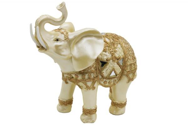 Elefant aus Polyresin Mass: H14,5xL16cm