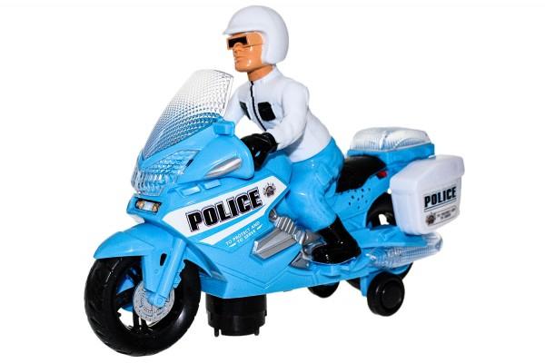 Polizei Motorrad mit Led , geräusche und fährt. Mass 20x26cm
