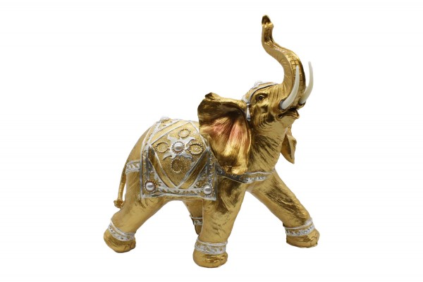 Riesiger goldener Elefant H:32cm