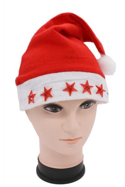 Nikolausmütze mit Blinkenden Sternen