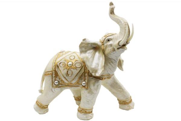 Riesiger weißer Elefant H:32cm