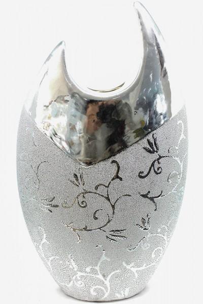 Designer Ceramic Vase silber Farbe H42cm b24cm