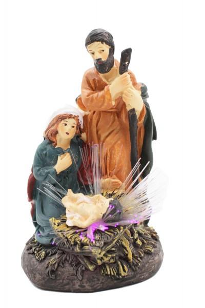 Weihnachts Dekoration, Weihnachtskrippe,Heilige Familie mit Led.