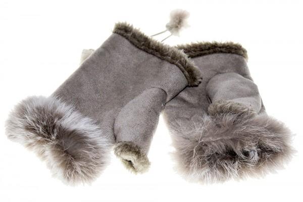 Modische Handschuhe mit Echtfell