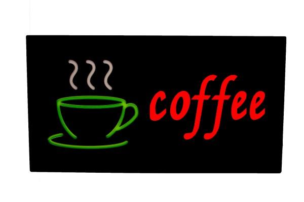 """LED Schild Leuchtschild""""Coffee"""""""