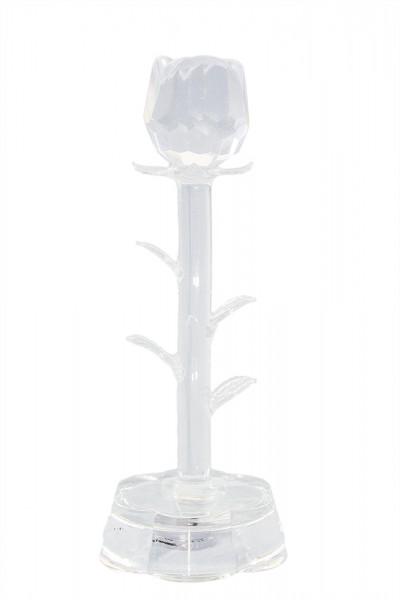 Glas Rose Blumen mit Led Beleuchtung h17cm b5.5cm