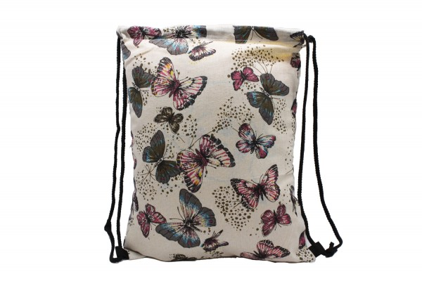Turnbeutel, Gymsack, Gym Bag, Sportbeutel 'Schmetterling' 32*42cm