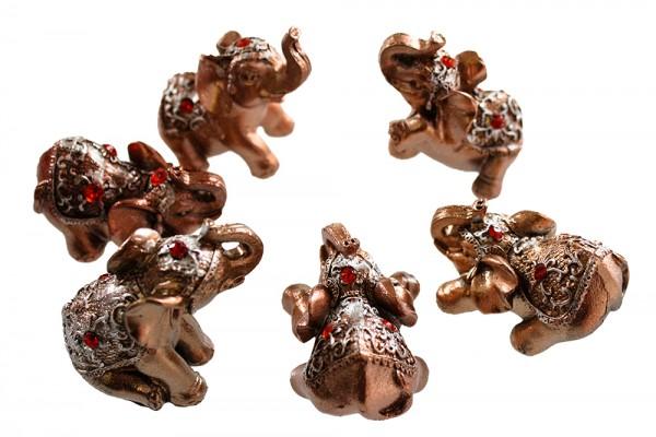 6er Elefantchen in Geschenk Verpackung L5cm Set