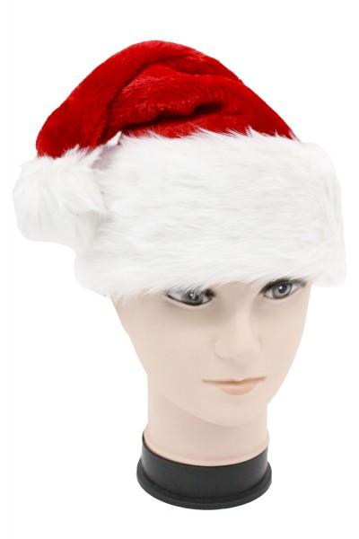 Weihnachtsmützen Nikolausmützen rot mit dickem Pelzrand