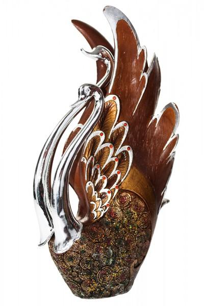 Schwann Figuren Paar aus Polyresin H32cm b18cm