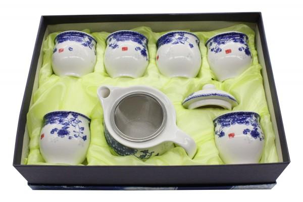 7 tlg Tee Set in Geschenkbox