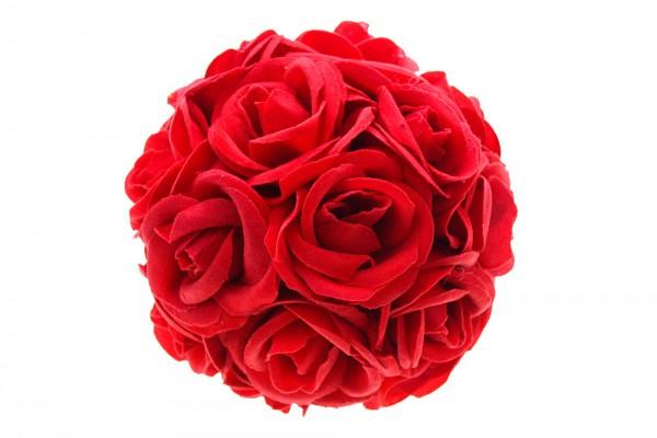 Rote Rosenkugel d=14cm