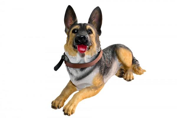 Schaeferhund liegend b 31cm h 22cm