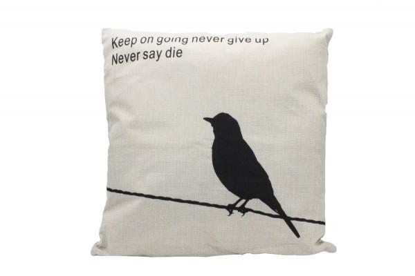 Kissenbezug, Kissenhülle, Sofa Bett Home Dekor Kissen, `keep on going never give up, never say die`