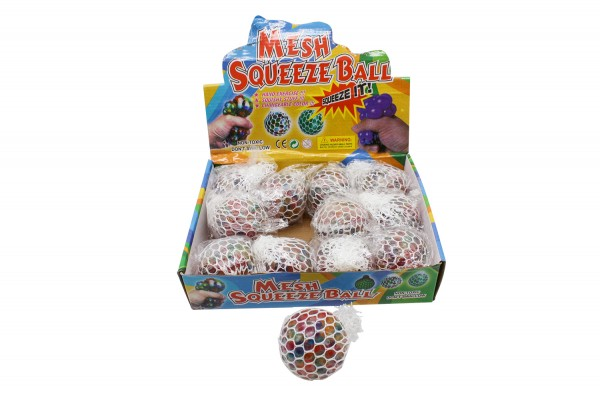Squeeze Ball im Netz, Anti Stress Ball in verschiedenen Farben, ca. 6 cm