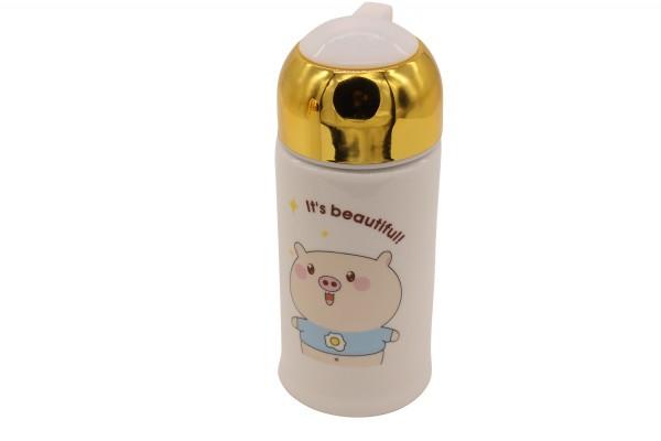 "Porzellan Trinkflasche ""Nice Beautiful"" H16.5cm"