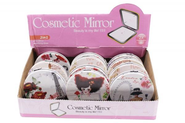 Taschenspiegel,Kosmetikspiegel, Klappbar Spiegel, Taschenspiegel, Ø 7cm