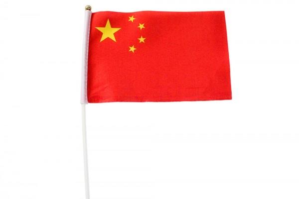 Chinesische Hand-Fahne 21x14 cm