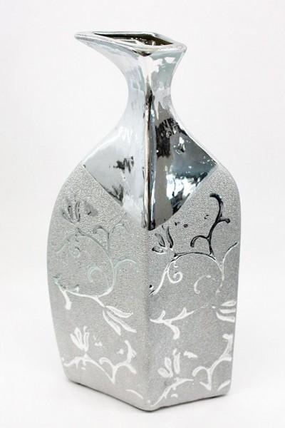Ceramic Vase silber Farbe H30cm b13cm