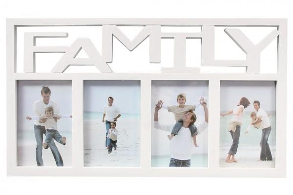 """Bilderrahmen """"Family"""" für 4 Bilder 10X15cm,Weiß"""